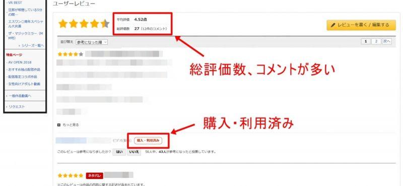 FANZAの作品購入画面